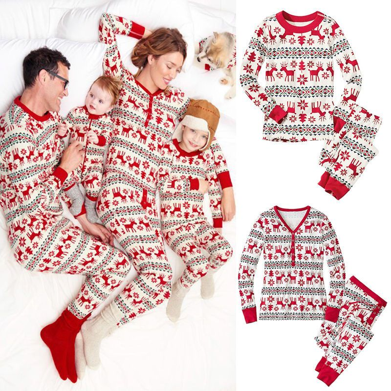 7edc4f10d4 Family Christmas Pajamas Family Matching Clothes Matching Mother Daughter  Clothes Father Son Mon Baby New Year Family Look Sets