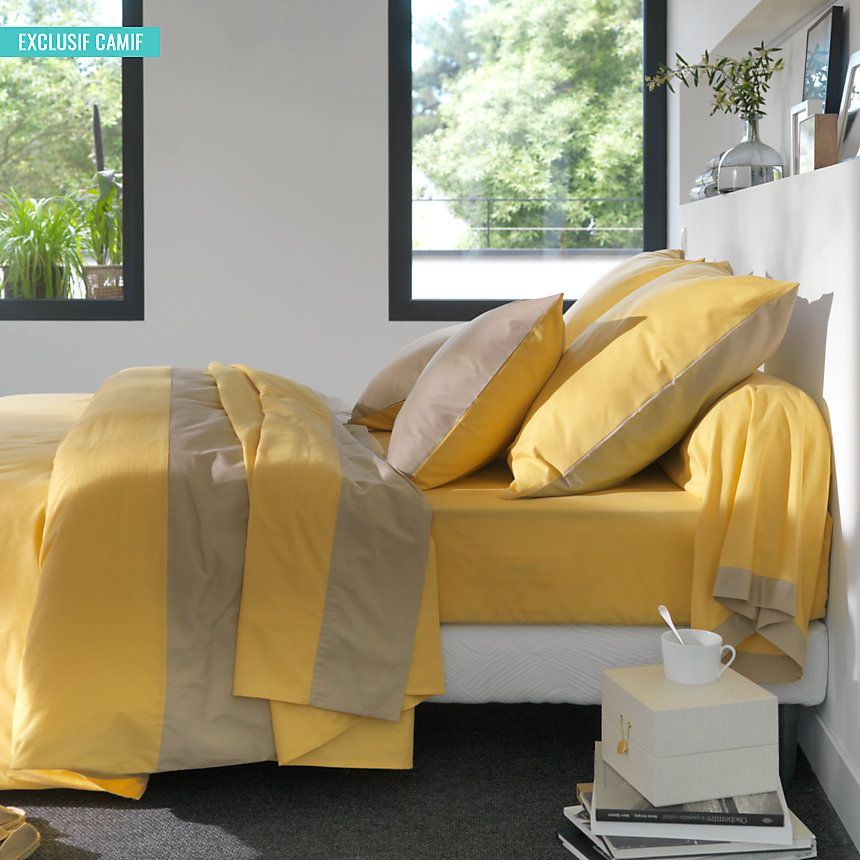 camif fr linge de lit Catherine & Magali : du linge de #lit bicolore en #coton #bio  camif fr linge de lit