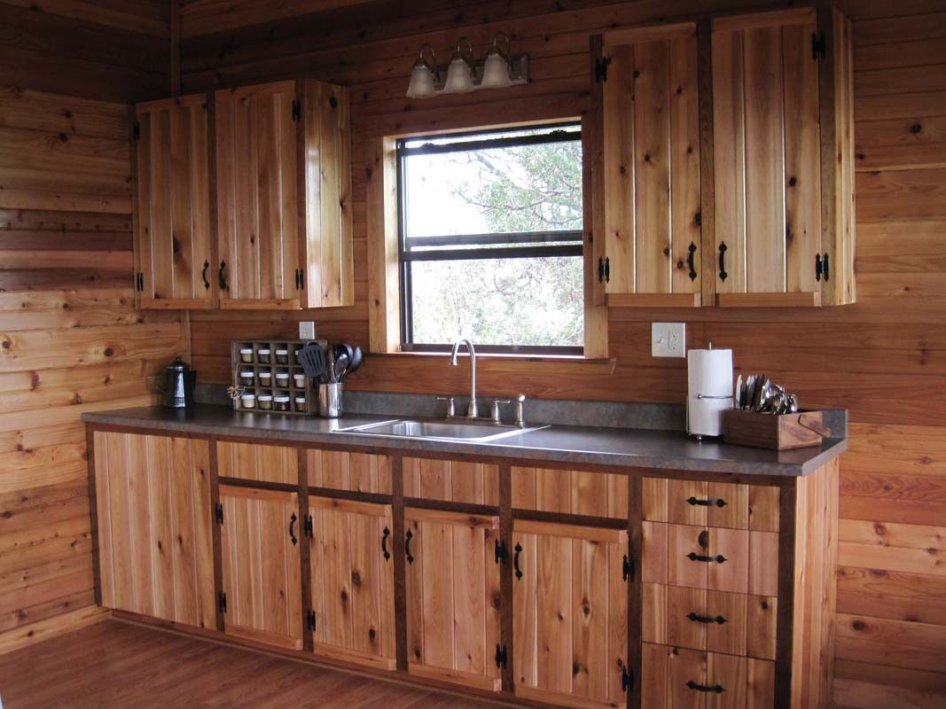 77+ Rustic Cabin Kitchen Cabinets - Kitchen Counter top ...