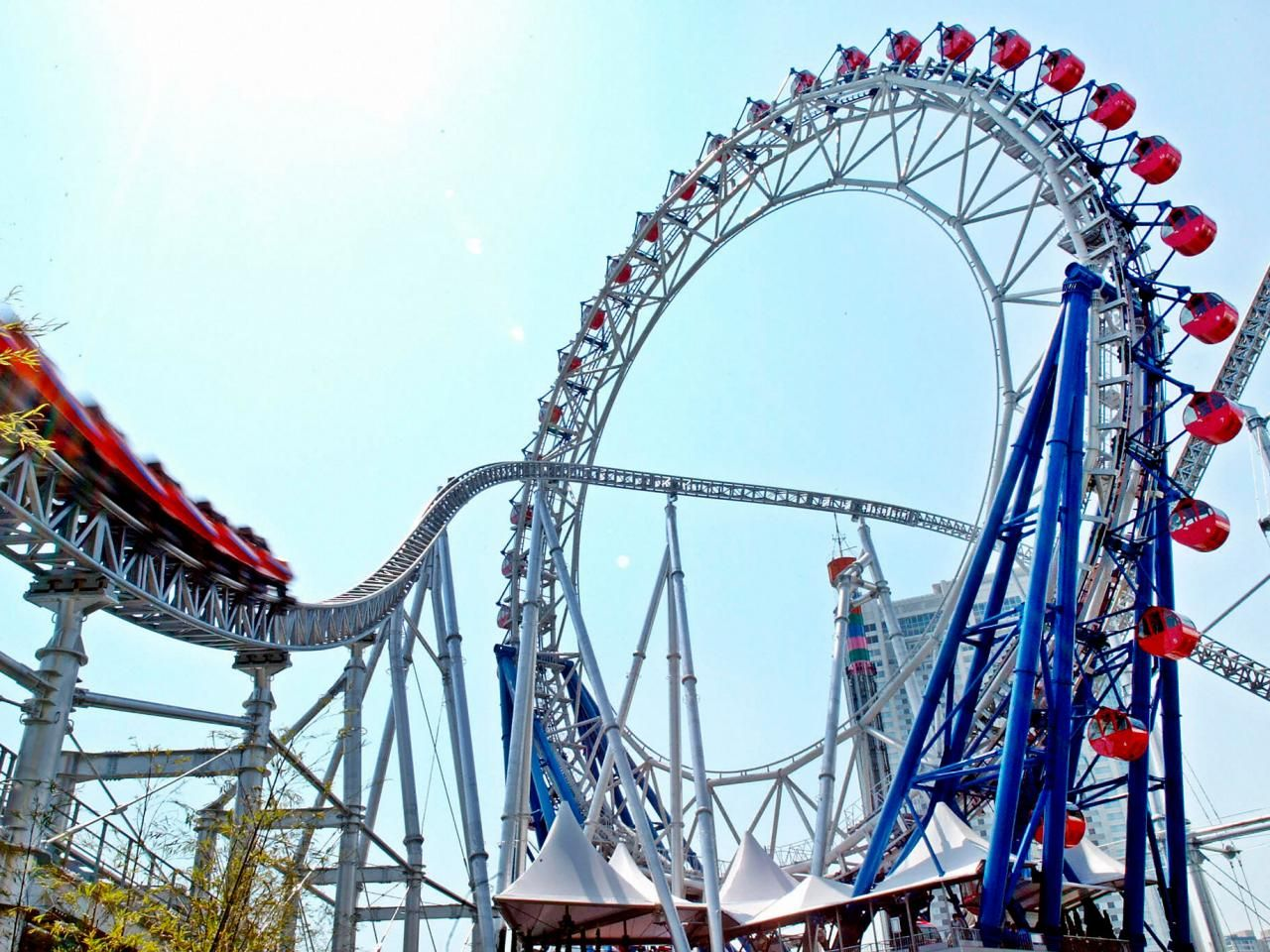 Crazy Roller Coasters TravelChannelcom Crazy Roller Coaster - Pedal powered skycycle rollercoaster japan amazing