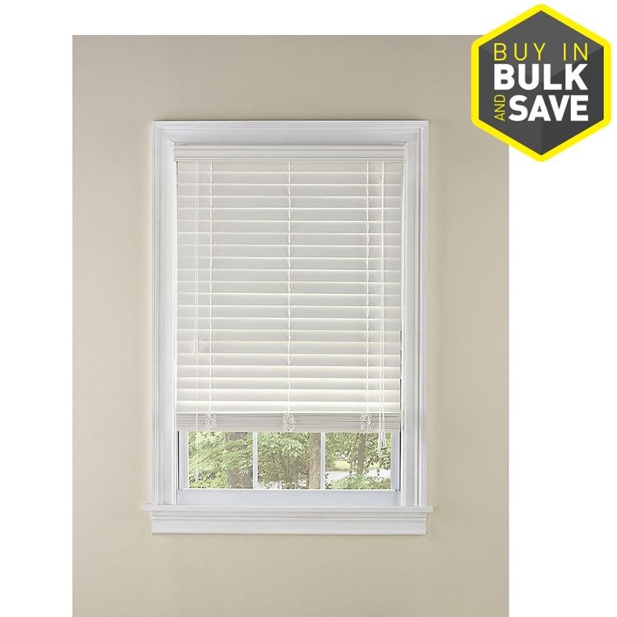 Levolor 2 In White Faux Wood Blinds Common 23 In Actual 22 5