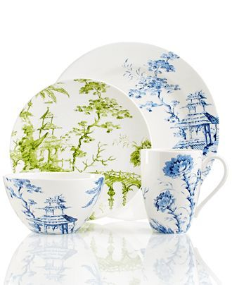 Scalamandre by Lenox Toile Tale Sky Blue Collection - Fine China - Dining \u0026 Entertaining  sc 1 st  Pinterest & Scalamandre by Lenox Toile Tale Sky Blue Collection - Fine China ...