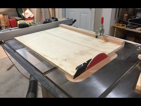 Make A Panel Sled Youtube Table Saw Sled Table Saw Diy Wood Projects
