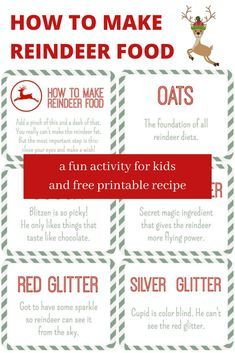 Reindeer food recipe to make this Christmas with kids and a fun printable. #christmas #familyfun #reindeerfoodrecipe