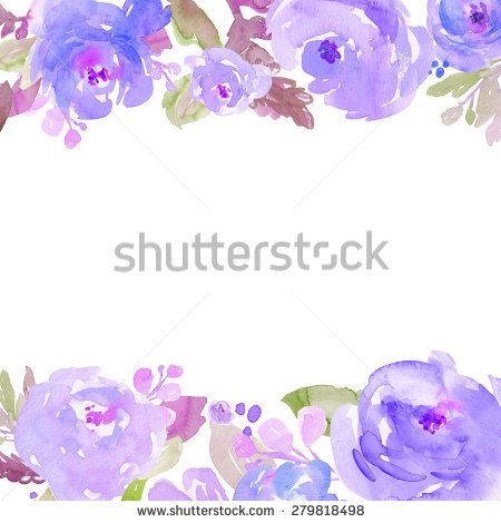 Watercolor Flowers Peonies Painted Background