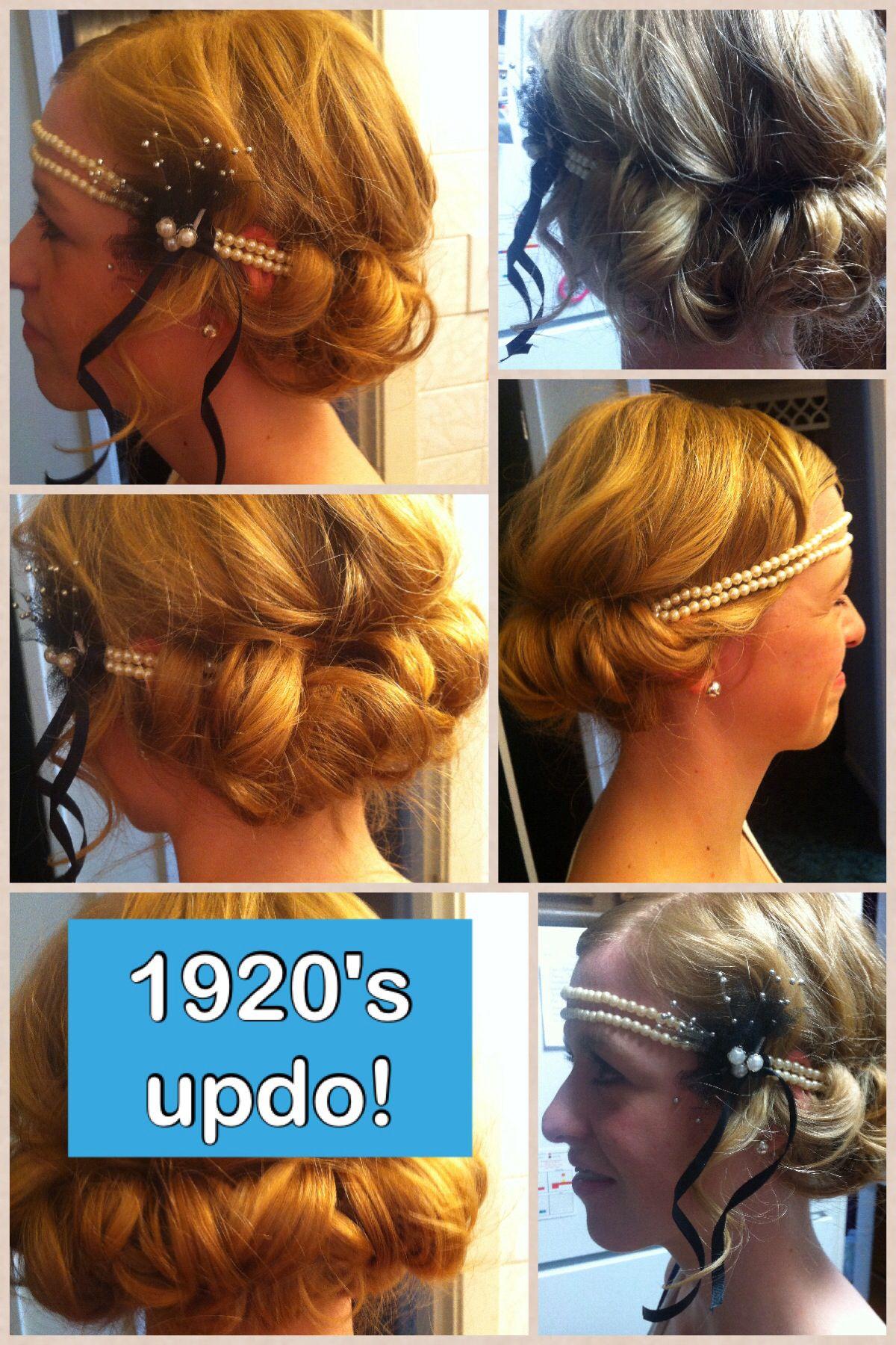 1920's updo :) | Hair styles, Hair, Hair dos