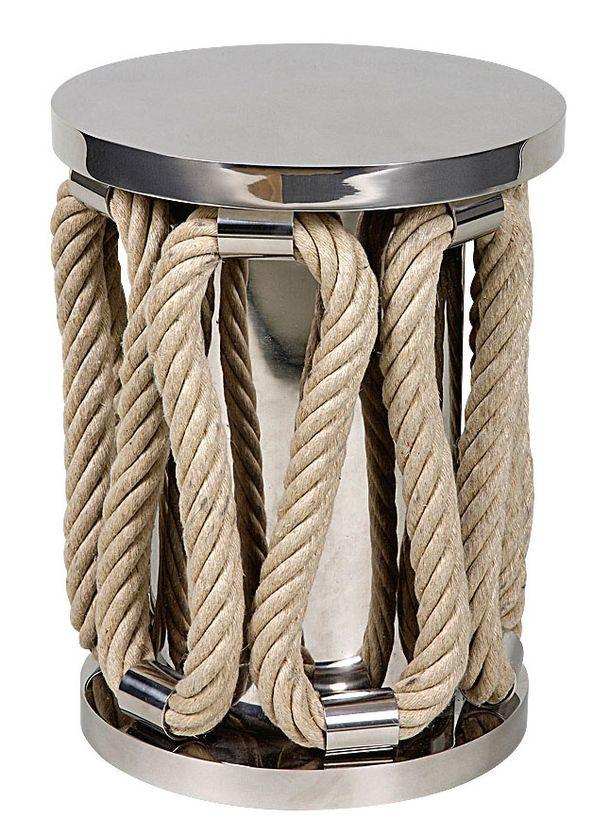 Тенденции дизайна: Веревки и канаты. Табурет Sailor из коллекции Thomas Boog, сталь, веревка, Pouenat