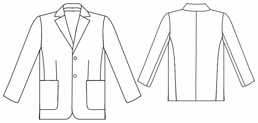 Suit (Jacket) - Sewing Pattern #6052 Made-to-measure sewing pattern ...