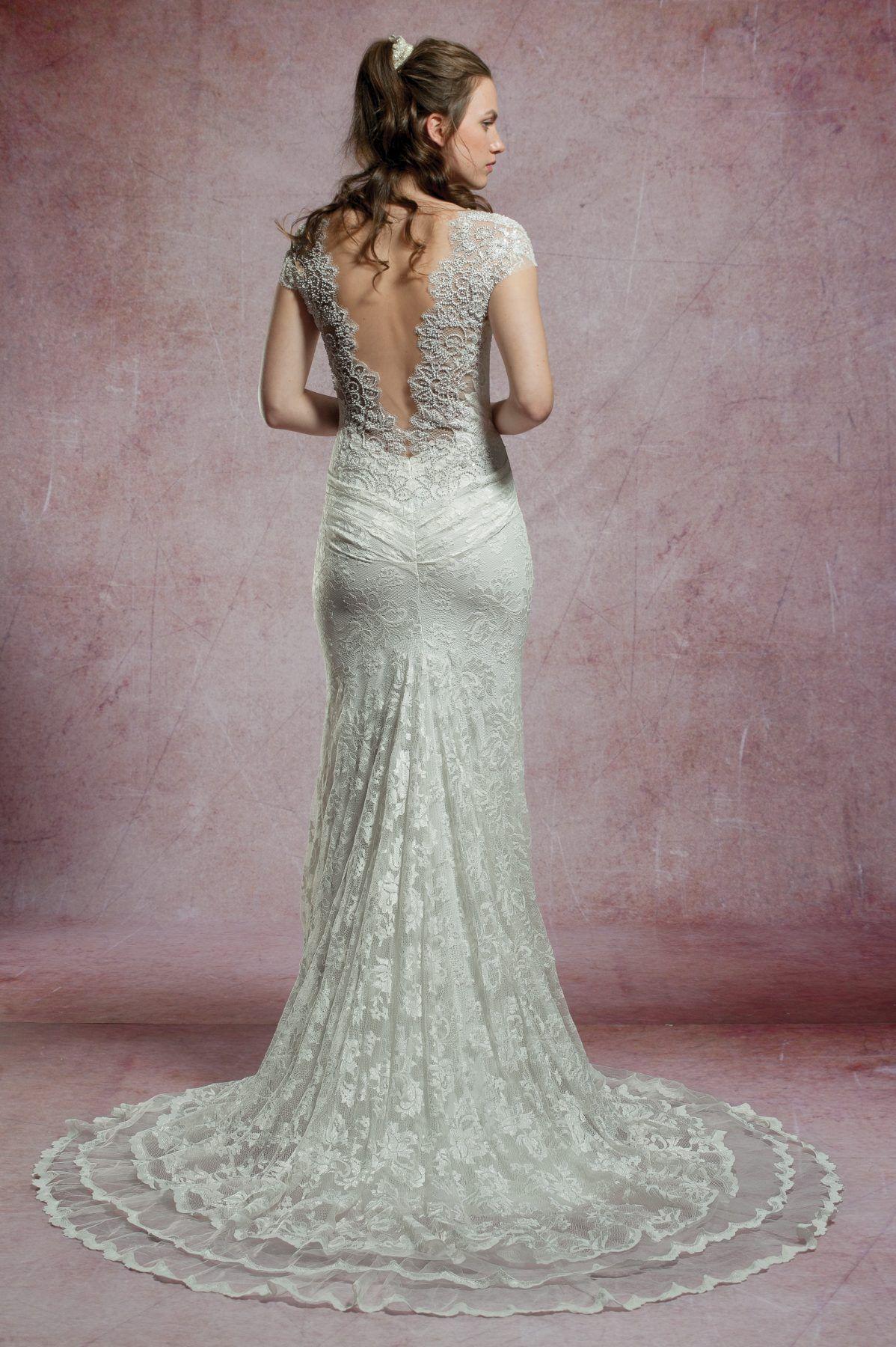 Beaded cap sleeve lace wedding dress lace weddings