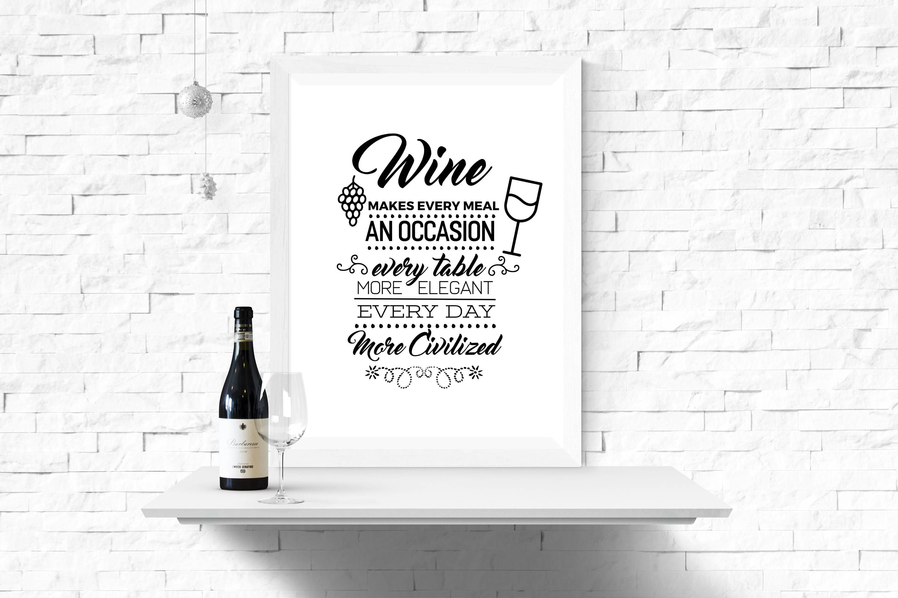 Wine print wine typography wall art home decor prints wall