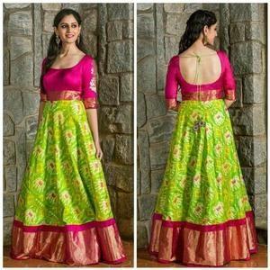 Indian Girls Dress | Pattu Frock for kids | Indian