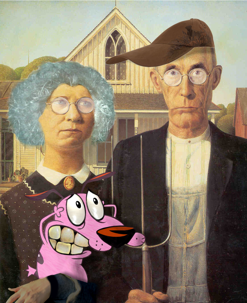 Courage The Cowardly American Gothic By Lunke13