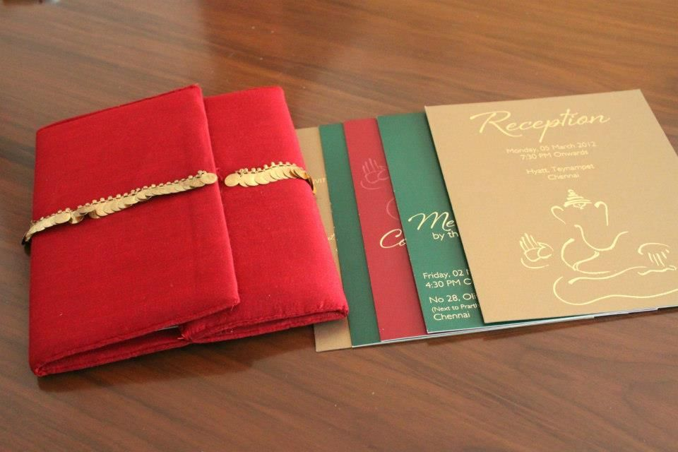 A red, green & gold invite by Muster Design (Chennai and Mumbai ...