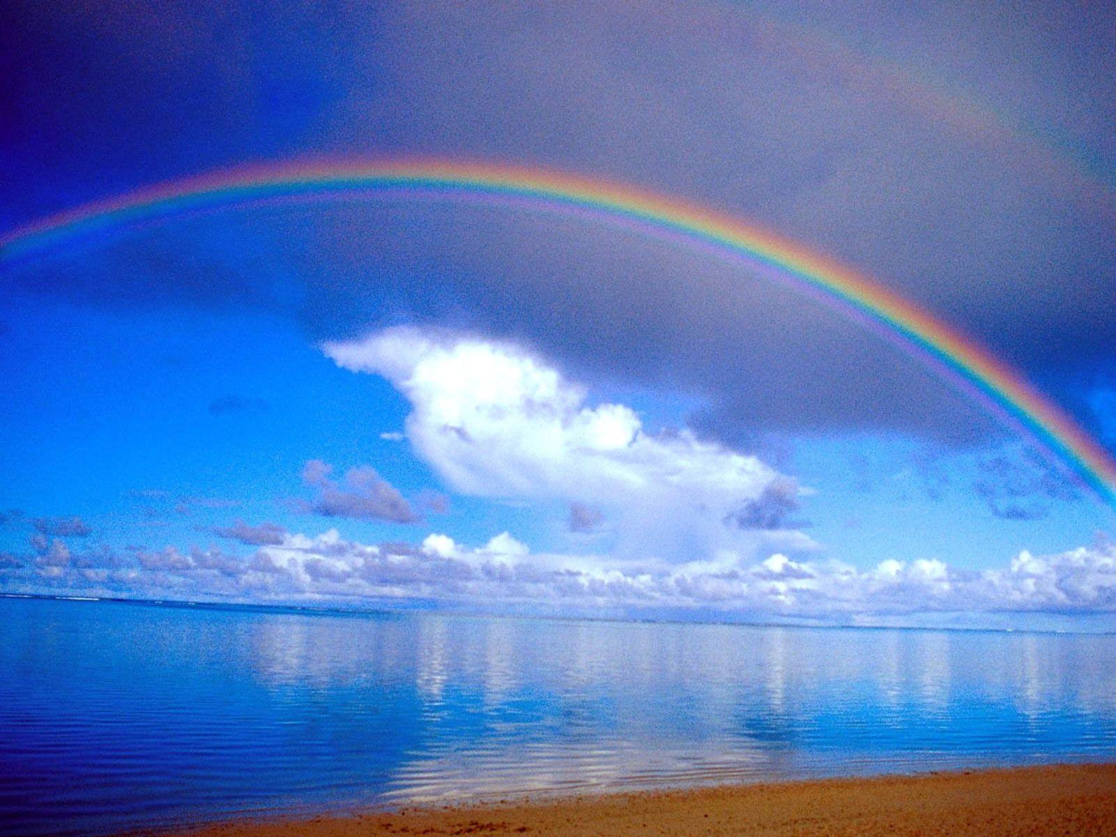 Beach Clouds Rainbow Sea Sky 720p Wallpaper Hdwallpaper Desktop Clouds Rainbow Wallpaper Scenic Pictures