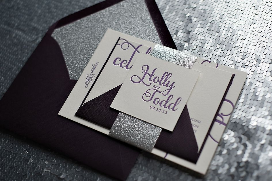 Purple And Silver Wedding Invitations 032 - Purple And Silver Wedding Invitations