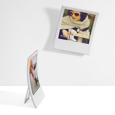 Decoración Categorias Marcos de fotos Dos colgadores de fotos para pared con forma polaroid-