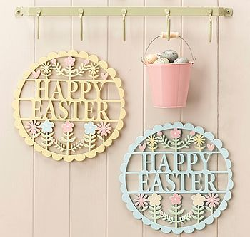 Happy easter fretwork sign laser cuts pinterest happy easter gisela graham pastel happy easter wood fretwork plaque a great range of spring easter gifts and homewares from the contemporary home online shop negle Choice Image