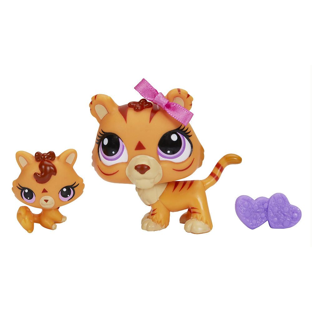 You get 2 pets and twice the fun with this tiger and baby tiger pair these mommy and baby pets - Petshop tigre ...