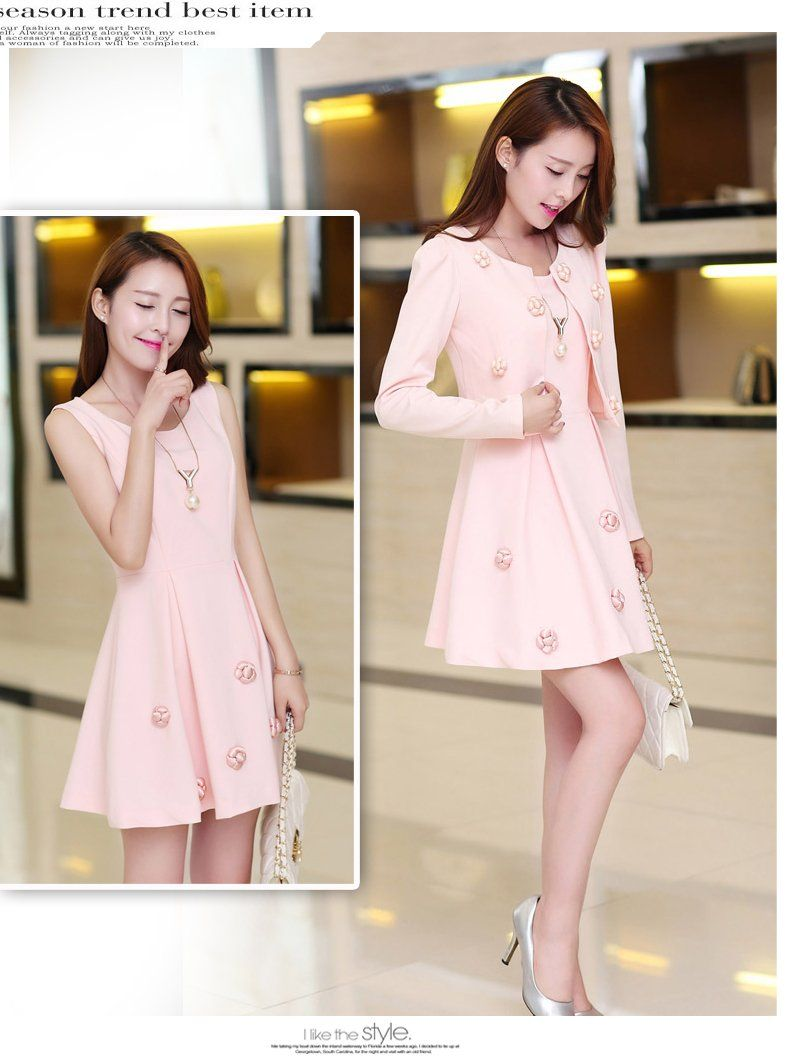 Women : Sleeveless Dress and Jacket Set YRB0318