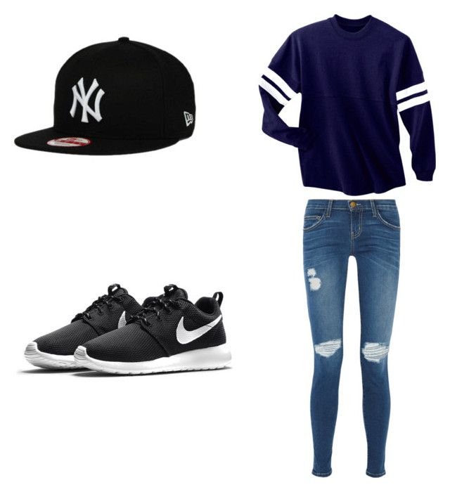 """""""Untitled #5"""" by hlaffer811 ❤ liked on Polyvore featuring Current/Elliott and NIKE"""