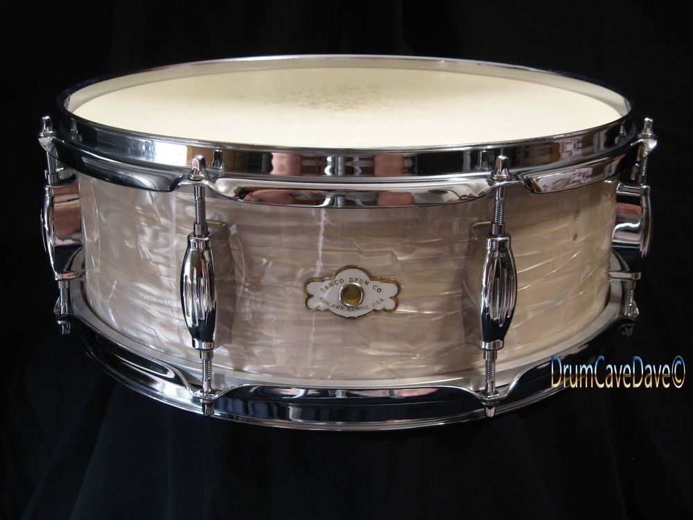 Vintage Camco 5x14 Oaklawn Badge Studio Model Snare Drum White Marine Pearl Wmp Camco Vintage Drums Ebay