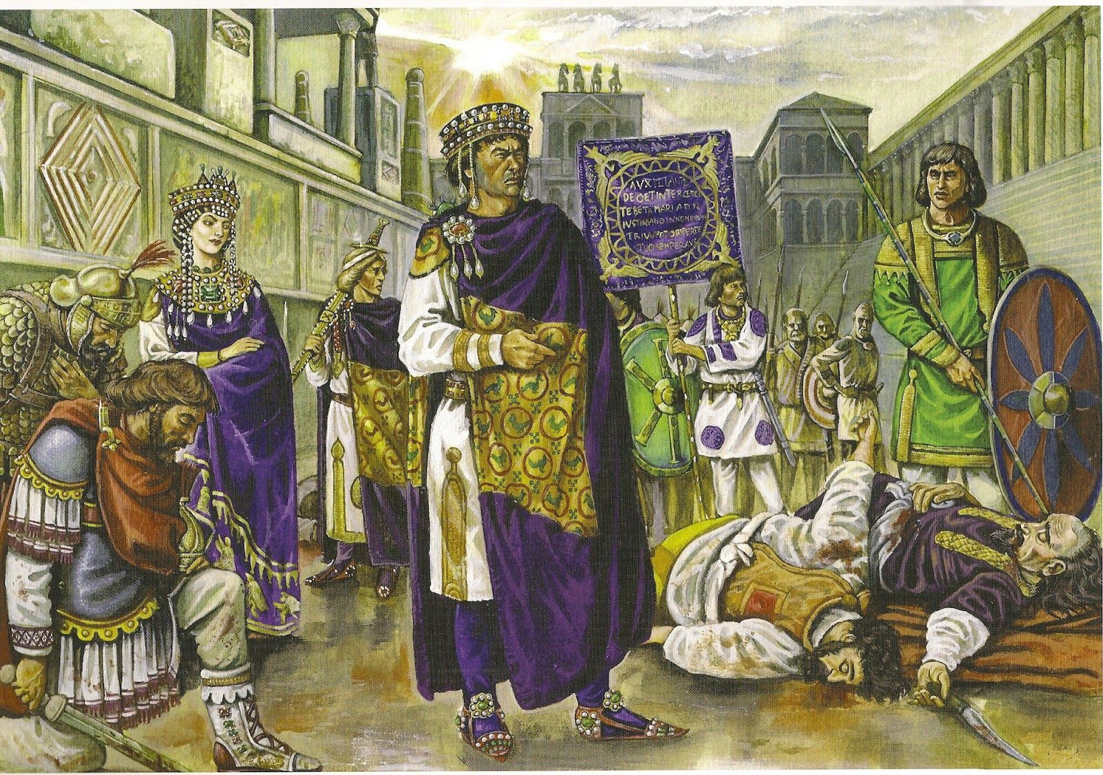 Emperor Justinian I in the aftermath of the Nika Riots.  6a2c3fbb5