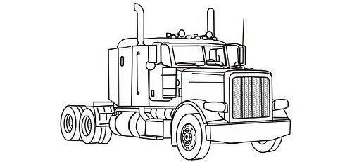Dibujos De Trailers Para Colorear Ratrod Camion Dibujo Camiones