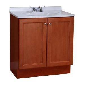 Glacier Bay All In One 30 In W Vanity Combo In Amber With