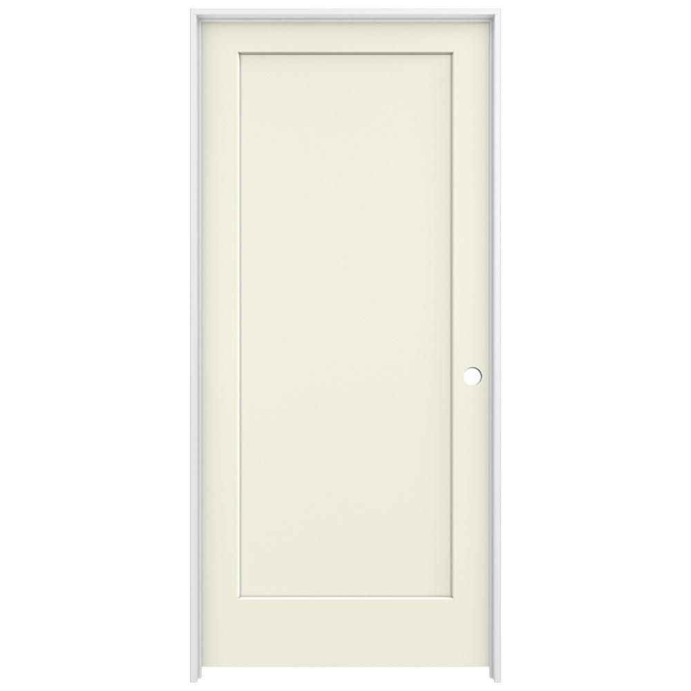 Jeld Wen 30 In X 96 In Brilliant White Right Hand 1 Panel Flat