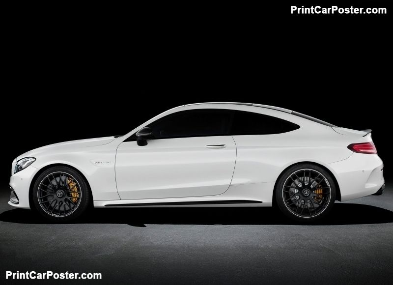 Mercedes benz c63 amg coupe 2017 poster mercedes benz for Mercedes benz poster
