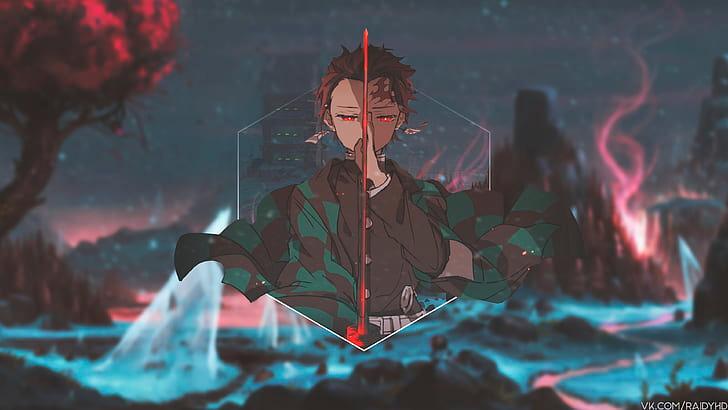 anime, anime boys, pictureinpicture, Kimetsu no Yaiba