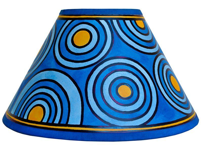 Lampshade Painting Kits Lampshade Painting Kit Blue Circles Lamp Shades Painting Lamp Shades Diy Lamp Shade