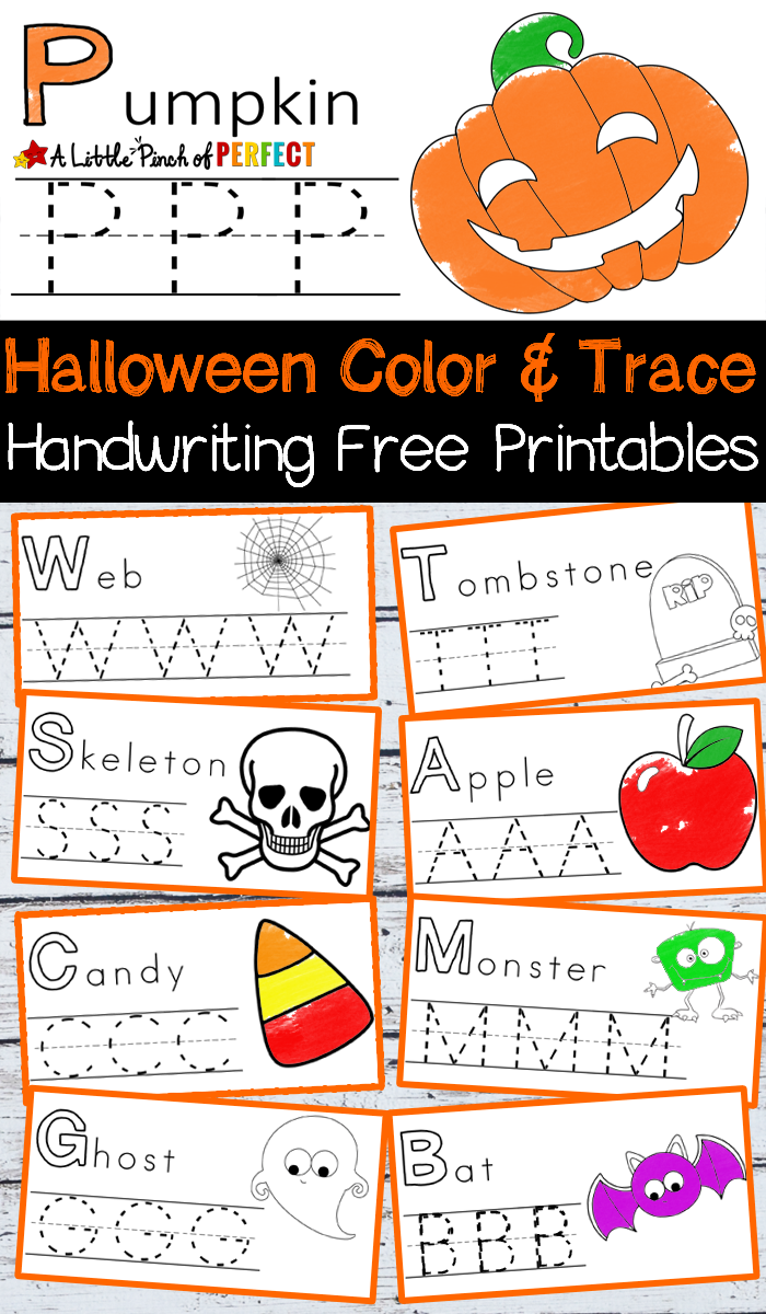 halloween handwriting and coloring free printables kid blogger network activities crafts. Black Bedroom Furniture Sets. Home Design Ideas