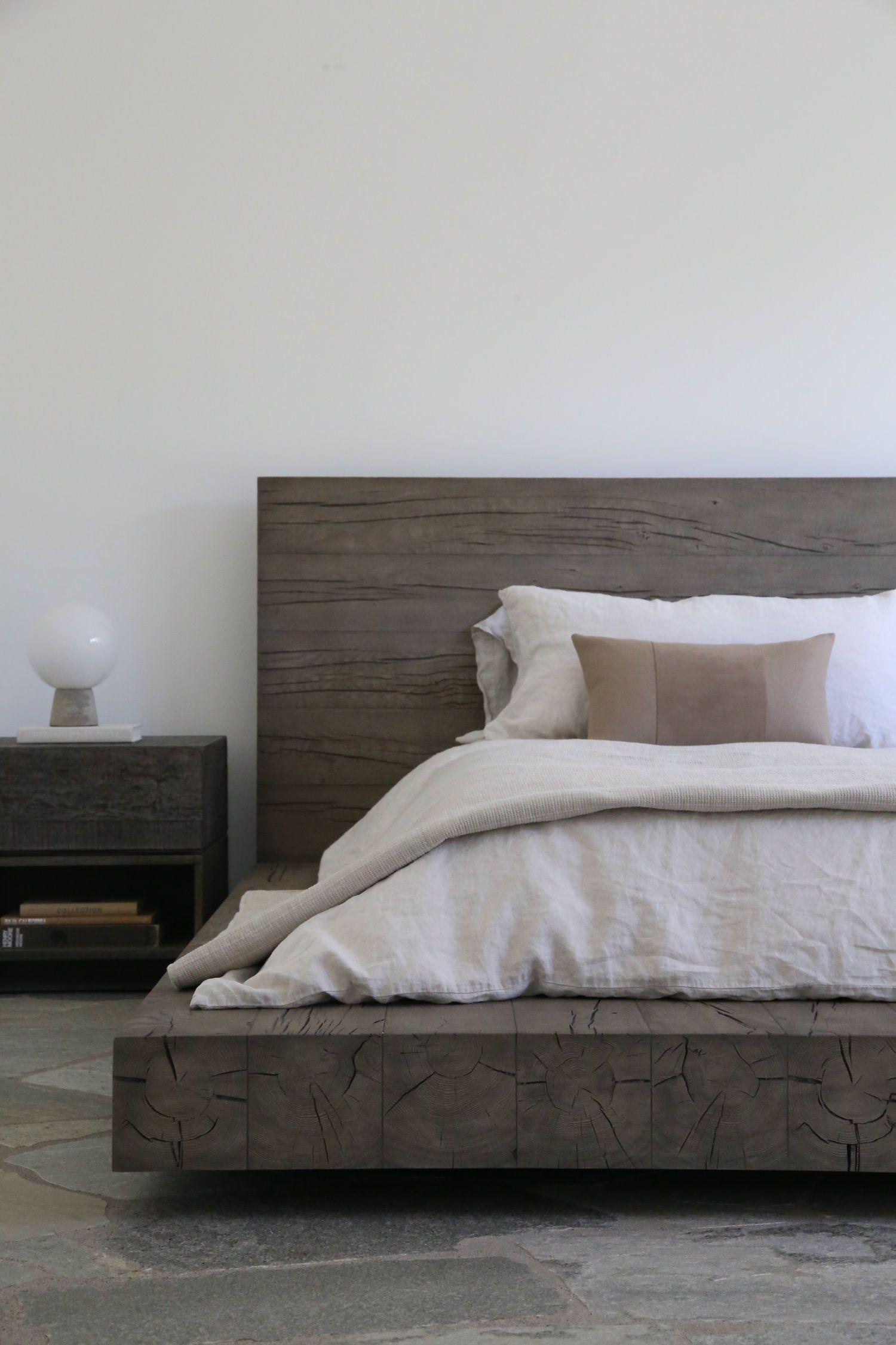 Modern boho chic bedroom with platform wood bed frame . # ... on Modern Boho Bed Frame  id=63026