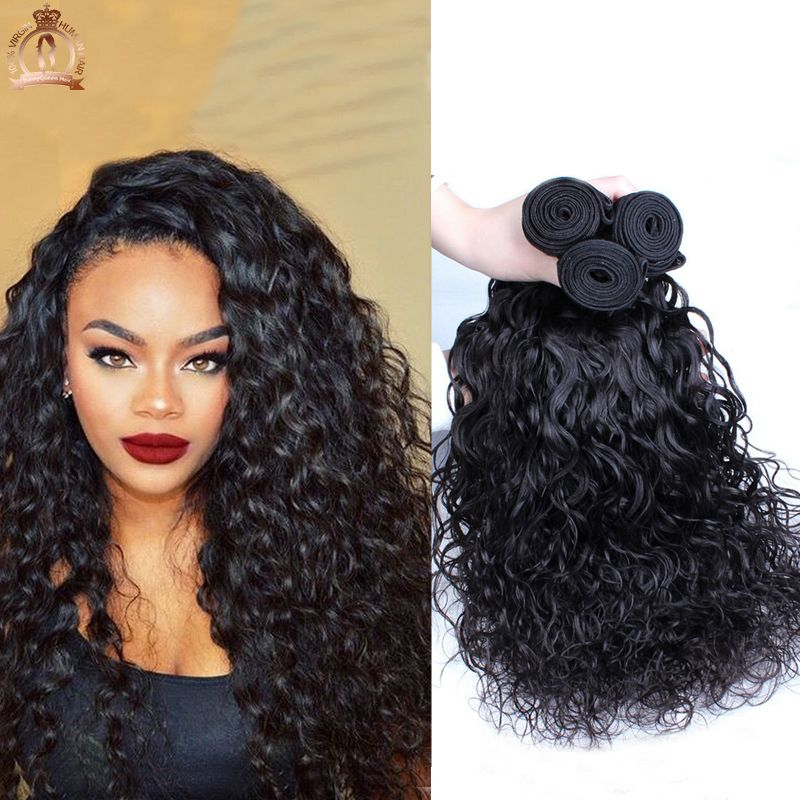 7a Peruvian Virgin Hair Water Wave 3pc Unprocessed Wet And Wavy Human