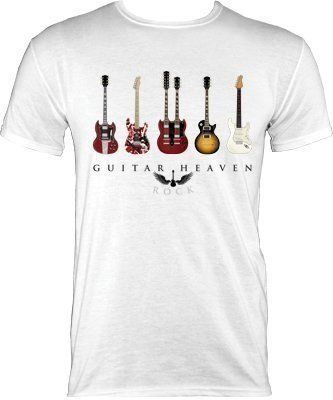Guitar Heaven Men S White T Shirt Amazon Co Uk Clothing White