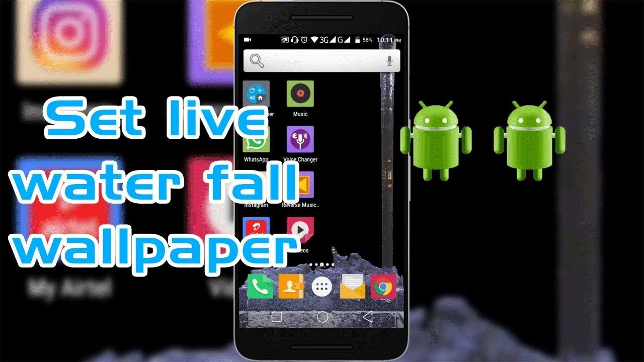 How To Set Waterfall Live Wallpaper In Your Android Mobile Phone Latest Live Wallpapers Youtube Make It Yourself