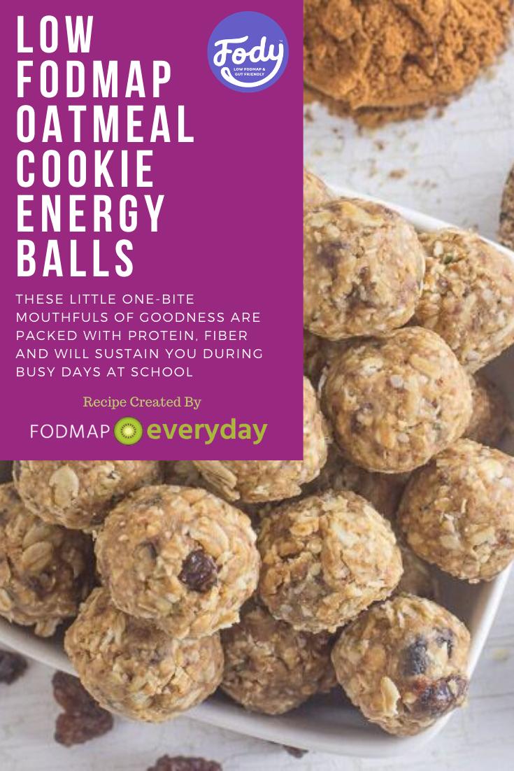 Low FODMAP Oatmeal Cookie Energy Balls