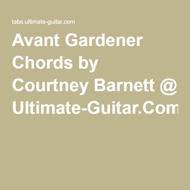 Avant Gardener Chords By Courtney Barnett Ultimate Guitar
