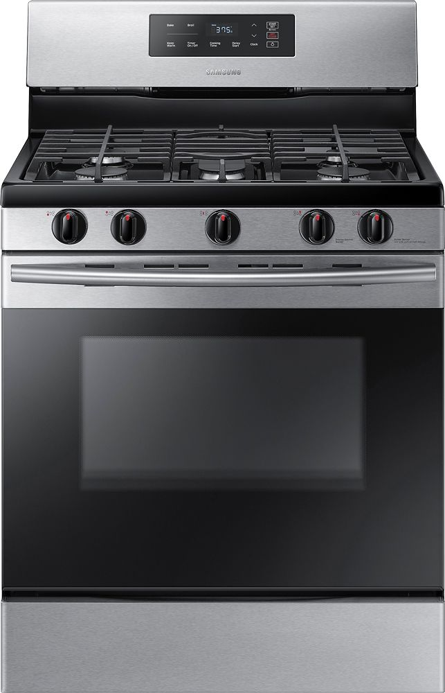 Samsung - 5.8 Cu. Ft. Freestanding Gas Range - Stainless steel (Silver)