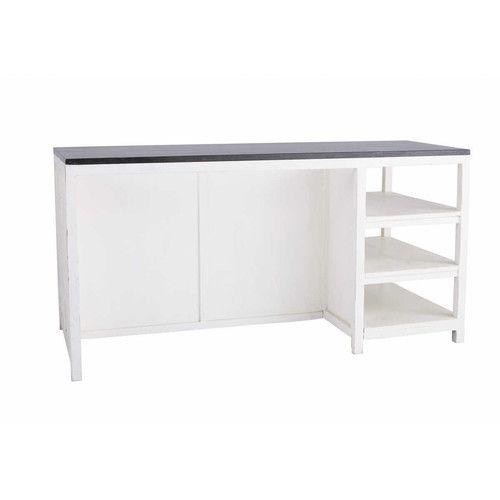 Kücheninsel aus Recyclingholz, B 170 cm, weiß | New House ...