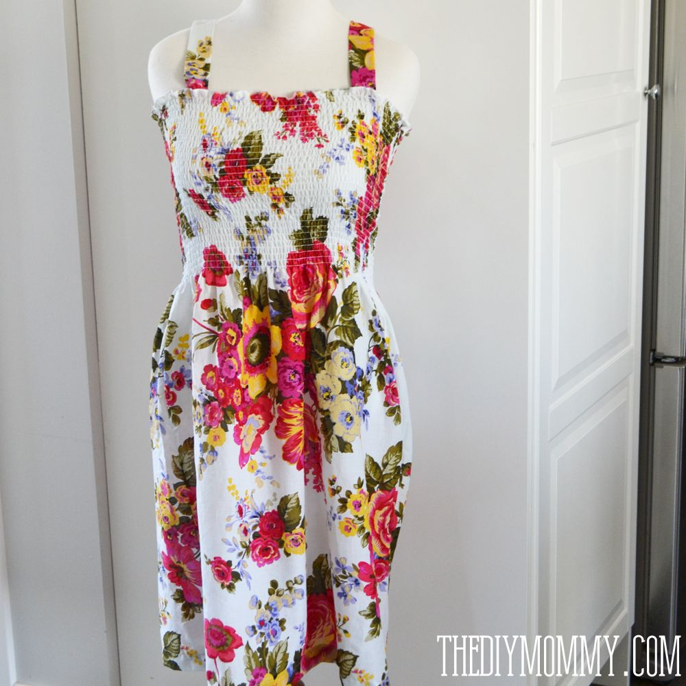 Sew The Easiest Shirred Summer Dress Ever The Diy Mommy Dress Sewing Tutorials Summer Dresses Simple Summer Dresses [ 1000 x 1000 Pixel ]