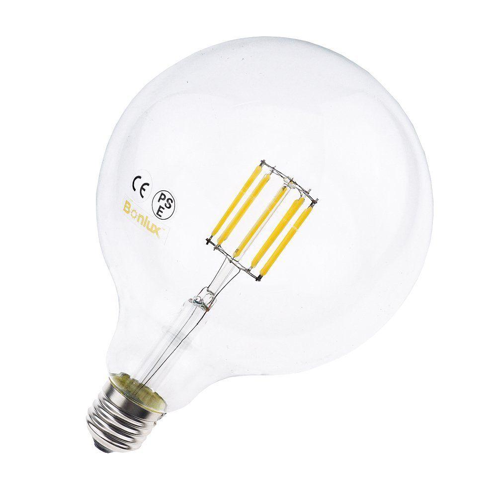 Bonlux G40 Led Vintage Filament Bulb 10w Edison Style Led G125 Clear Glass Globe Light Medium Screw E26 Base Neutral Whi Filament Bulb Glass Globe Globe Lights