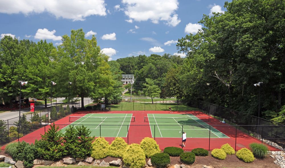 Lighted Tennis Courts With Practice Board We Have Two Specially Surfaced Asphalt Tennis Courts Lighted For Night Matches Hit A Home Photo Tennis Court Photo