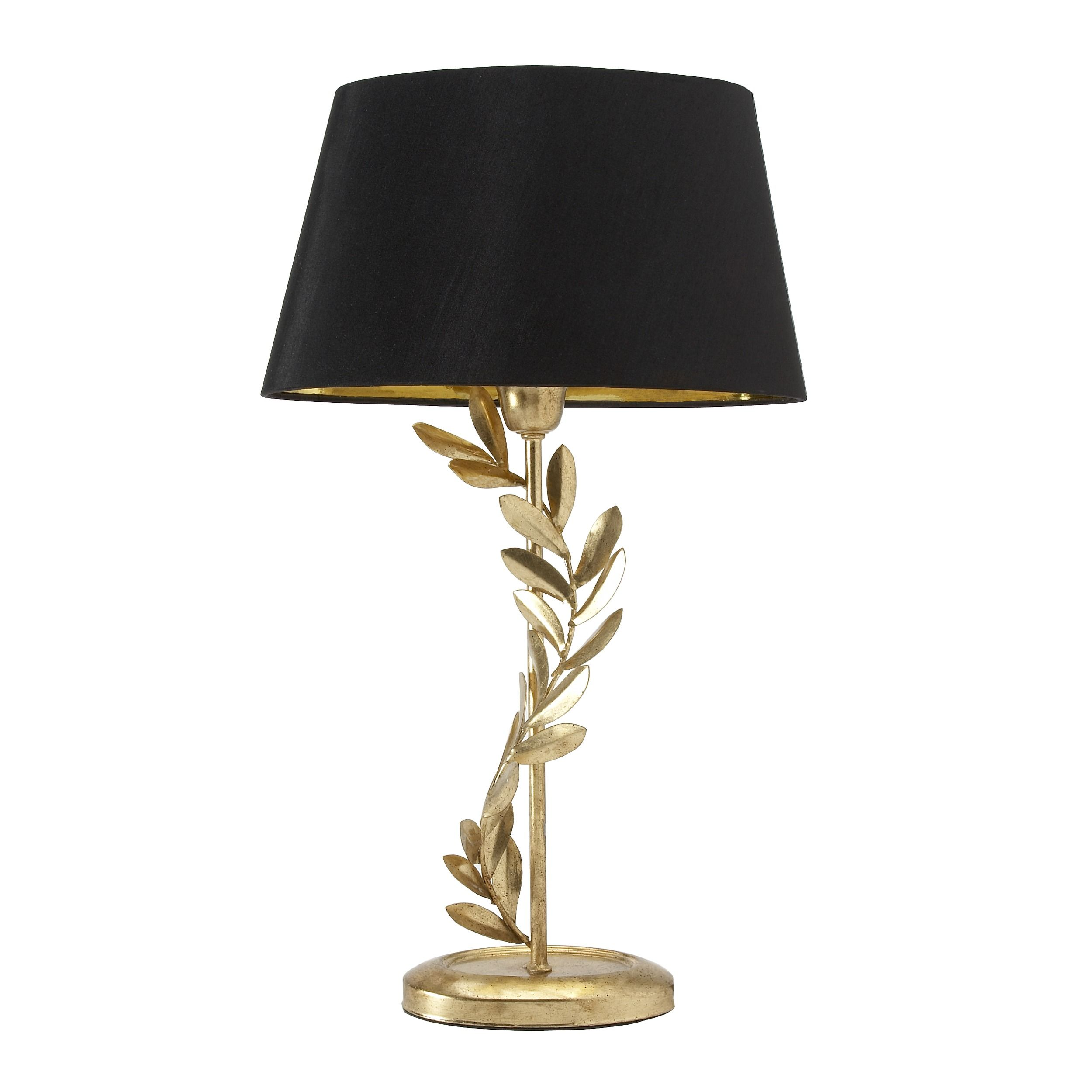 Archer Gold Leaf Lamp With Black Shade