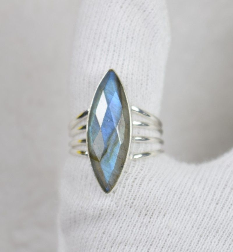 b5dc7c06b Natural untreated labradorite ring 925 sterling silver je456 ...