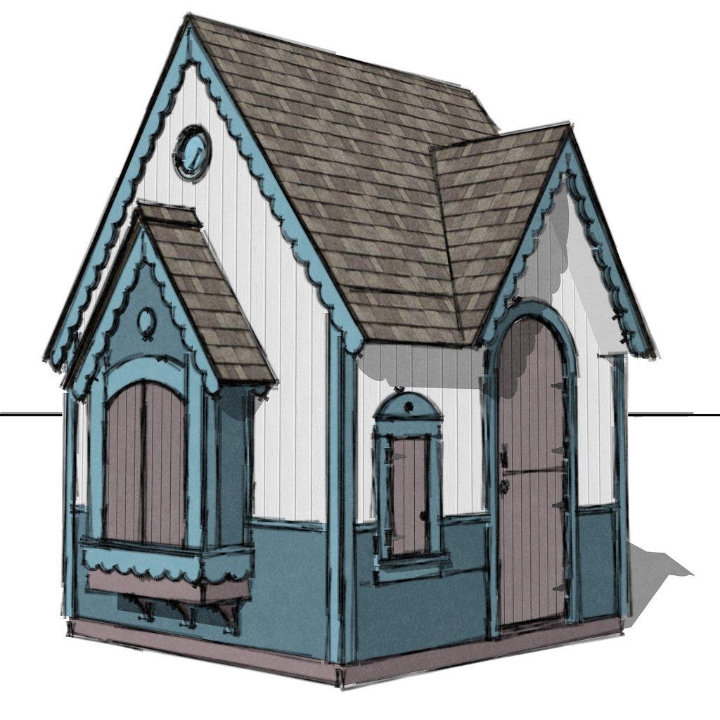 gingerbread playhouse plan playhouse plans pinterest