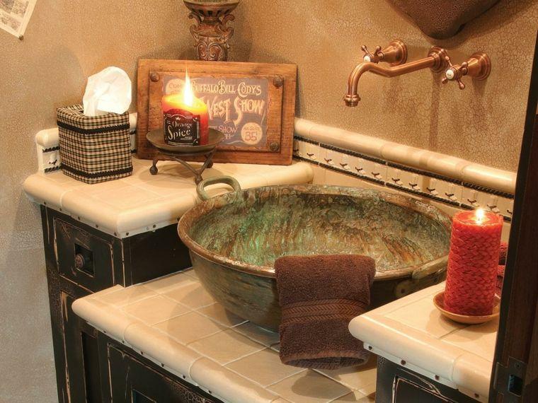 Lavabos rusticos - paz y relax en el cuarto de baño - Lavabos - lavabos rusticos