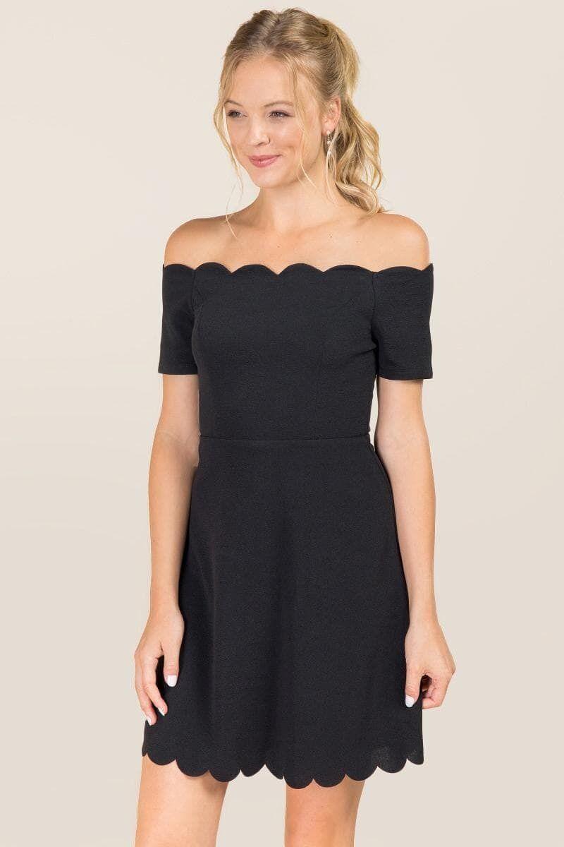 Killian Scallop Edge A-Line Dress   Dresses   Pinterest   Kleider ...