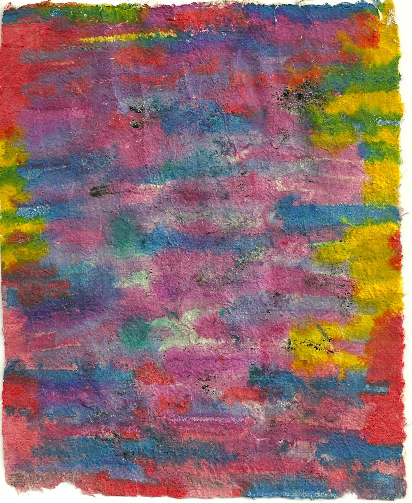Handmade paper and ink